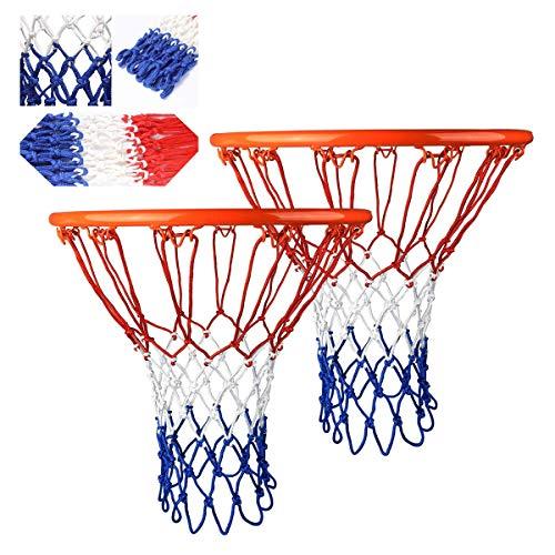 JEANGO Red de Baloncesto Profesional, 4 PCS 12 Orificios Malla de Reemplazo para Estándard Canasta de Baloncesto