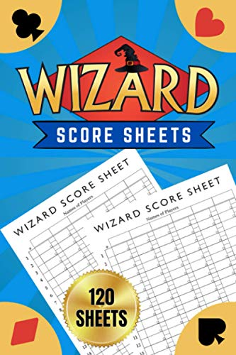 """Compare Textbook Prices for Wizard Score Sheets: Wizard Card Game Score Pads - Oversized Wizard Scorepads - Wizard Cards - 120 Sheets, 6""""x9""""  ISBN 9798699087730 by Roberts, Dan"""