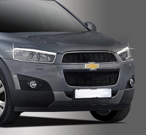 Zubehör für Chevrolet Captiva ab 2011 Chrom Scheinwerferrahmen Abdeckung Rahmen Tuning