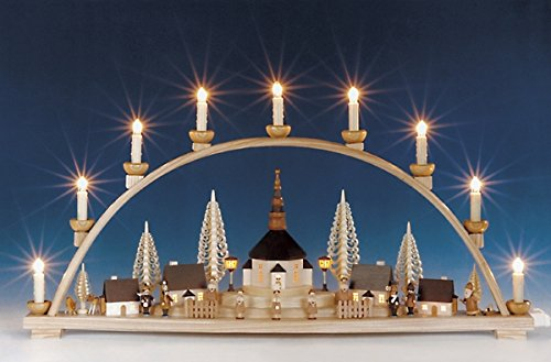Schwibbogen groot met verlichte elektrische lantaarns. Verlicht 78 cm lichtboog zeep NIEUW