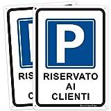 2pz Segnale di parcheggio riservato, Vai in Questo Modo al Cartello del Parcheggio, Segnale Alluminio, Blu 250 * 350mm