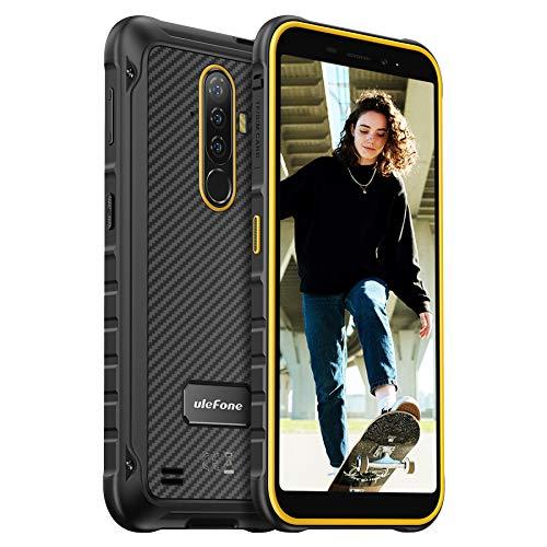 Ulefone Armor X8 Móvil Libre Resistente 4G, Octa-Core, Android 10, 5.7  HD+ Teléfono Robusto, 4GB+64GB (SD 256GB), Cámara 13MP+8MP, Batería 5080mAh, IP68 Impermeable Smartphone Dual SIM, NFC -Naranja