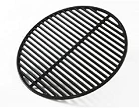 Big Green Egg Grill and Smoker Cast Iron Half Moon Grid, Large, 18-Inch