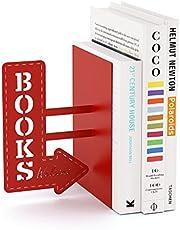 Balvi Sujeta Libros Bookshop Color Rojo Decorativo Metal