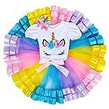 Neonate Primo Tutu di Compleanno con Fascia Set Unicorno per Bimba con Vestito Costume Pri...