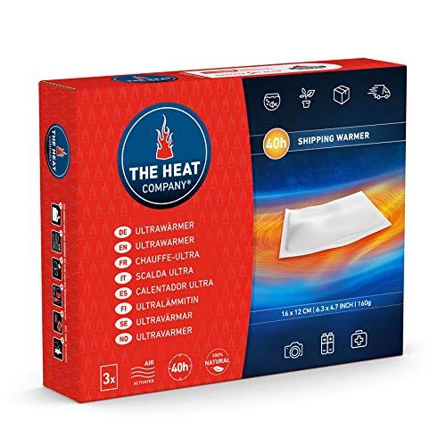 THE HEAT COMPANY Ultrawarmer - 3 pièces - chaufferettes sans Surface adhésive - Extra Chaud - 40 Heures de Chaleur - Chaleur immédiate - autochauffante - purement Naturel