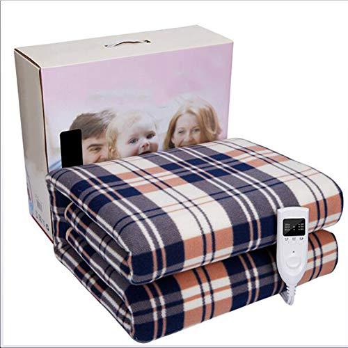 YMN dubbel-Control-verwarmingsdeken met oververhittingsbeveiliging en controller, uitstekende veren fleece deken voor thuis elektrisch verwarmd