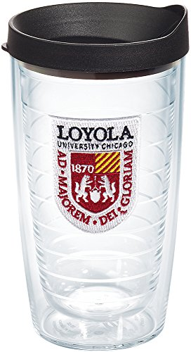 Tervis Loyola University Chicago Ramblers Made in USA Double Walled Insulated Tumbler, 16-Ounce, Clear