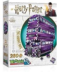 Wrebbit 3D-El Autobús Noctámbulo Puzzle 3D, Multicolor, 26 x 7 x 19 cm (W3D-0507)