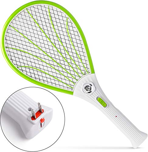 Nikand Electric Gnat Fly Insect Killer Swatter Bug Zapper Racket - Light Mosquito Trap Indoor & Outdoor Tennis Racquet Bug Zappers - Kill Fruit Flies Electronic Swatters Fly Control Best for Camping