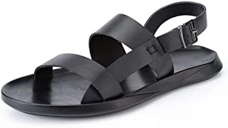 LUKEEXIN Breathable Men's Sandals Slippers Beach Shoes (Color : Black, Size : 42)