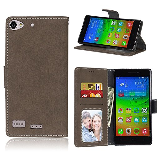 Lenovo Vibe X2 Case, Bookstyle 3 Card Slot PU Leather Wallet for TPU Silicone Case Cover