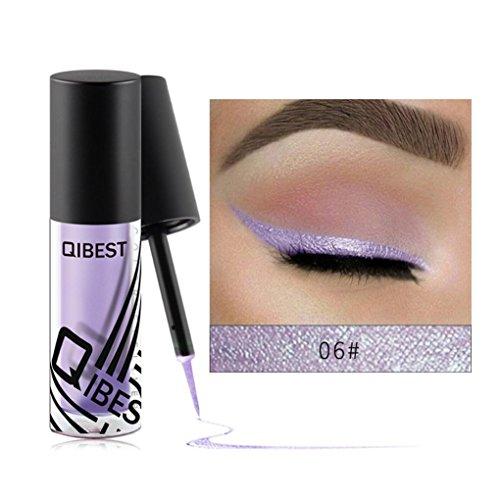 Coloré(TM) Palettes de maquillage Eyeliner liquide fard à paupières brillant Eyeliner liquide fard à paupières brillant (F)