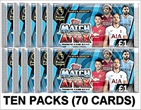 2018/2019 Topps Match Attax ENGLISH PREMIER LEAGUE Match Attax Soccer Cards TEN (10) 7-CARD PACKS (70 Cards Total). USA SELLER! Loaded With Top Stars!