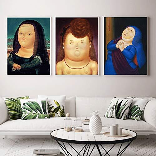 Geiqianjiumai Berühmte Cartoon-Version von Leinwand Poster drucken Wohnzimmer Schlafzimmer Restaurant modernen Stil niedlichen Wandkunst Bild rahmenlose Malerei 30X38CM