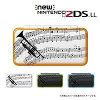 new Nintendo 2DS LL カバー ケース クリア ハード トランペット 黒 透明