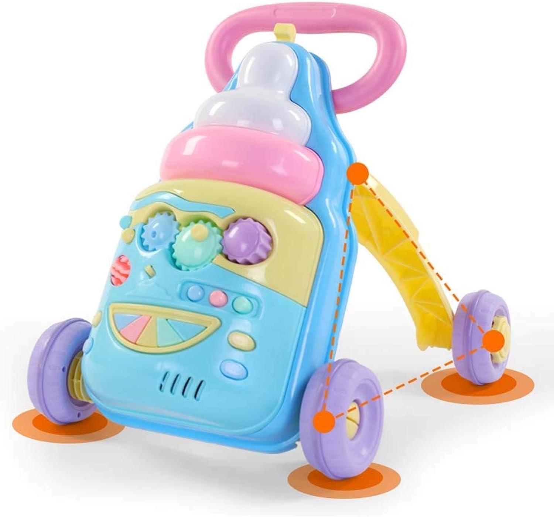 AGGF Baby Walker,2-In-1 Verwendung Als Push-Along-Spielzeug Erste Schritte Baby Walker Für 1-3 Jahre, Frühe Entwicklung Aktivitt Mit Musik Hochwertige ABS-Spielzeug Und Zubehr