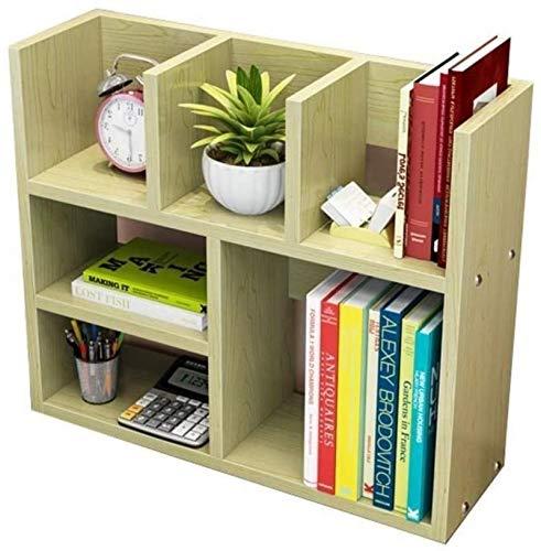 HZYDD Estantería de escritorio simple de arce blanco para libros, estante de almacenamiento de comestibles, estantería de escritorio (tamaño grande: grande) (tamaño pequeño: pequeño)