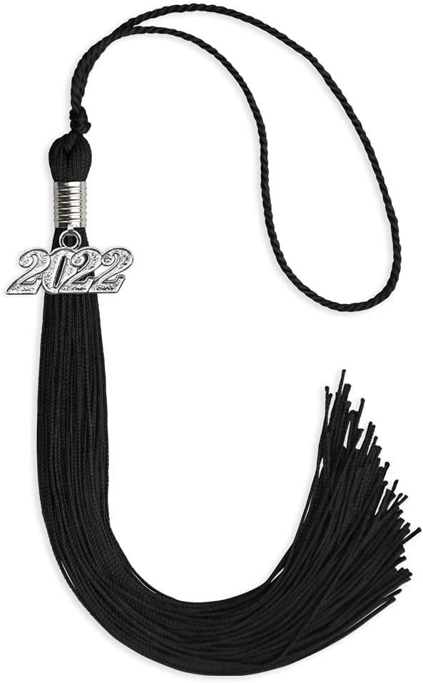 Endea Ranking TOP1 Graduation Single Color Free shipping Tassel with Silver Blac Date Drop