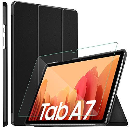 ELTD Custodia Cover+Pellicola Protettiva[Combinazione] Compatibile per Samsung Galaxy Tab A7 10.4 2020, Stand Case Cover + Vetro Temperato Pellicola per Samsung Galaxy Tab A7 T505/T500/T507 10.4 2020