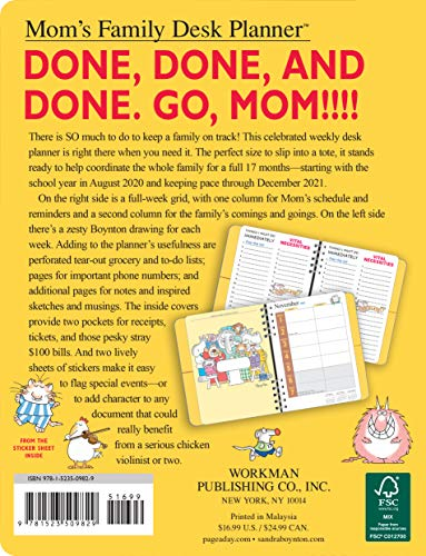 Product Image 2: Mom's Family Desk Planner 2021