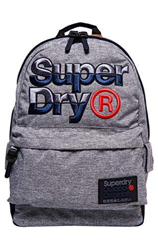Superdry Herren Mega Logo Montana Rucksack, Grigio (Light Grey Marl), 30x45x15 cm (W x H x L)