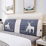 YWYW Nordic Bedside Soft Cushion, Almohada de Cama con Cremallera para Dormitorio, Tatami Soft Bag Large Back-d 90x60cm (35x24inch)
