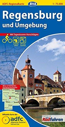 ADFC-Regionalkarte Regensburg und Umgebung mit Tagestouren-Vorschlägen, 1:75.000, reiß- und wetterfest, GPS-Tracks Download (ADFC-Regionalkarte 1:75000)