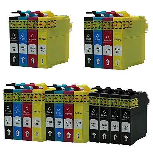 ZYL - Cartuchos de tinta compatibles con Epson T1285 Stylus S22 SX125 SX130 SX230 SX235W SX420W SX425W SX430W SX435W SX438W SX440W SX445W SX445WE Office BX305F BX305FW BX305FW Plus (20 unidades + 4 unidades), color negro