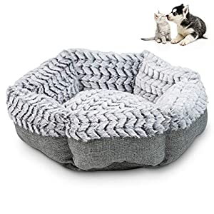 Pet Craft Supply Co. Soho Round Machine Washable Memory Foam Comfortable Ultra Soft All Season Self Warming Pet Bed for Indoor Cat Kitten & Small Dog Puppy