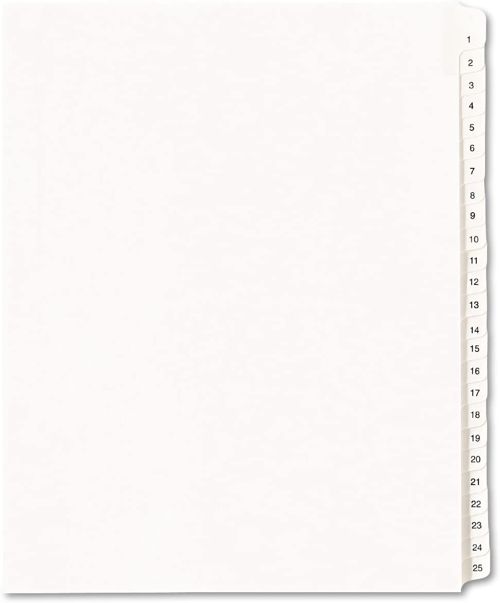 AVE01701 - Outlet Award ☆ Free Shipping Allstate-Style Legal Dividers Exhibit Side Tab
