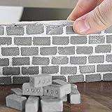 I migliori regali per i giochi di famiglia !!! Mini blocchi di cemento e mortaio Jumberri 24PC Crea il tuo piccolo giocattolo per mattoncini in miniatura (3,3x1,7x1,7 cm)