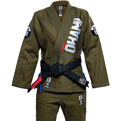 Okami BJJ GI, Competition Training 2, Olive GI-Größe F3