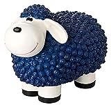 incubado Mini Schaf Molly Deko-Figur Gartenfigur. Gartendekoration für den Garten Außen-Bereich. klein (blau)