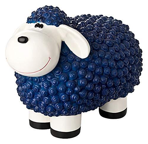 incubado Mini Schaf Molly Deko-Figur Gartenfigur, Gartendekoration für den Garten Außen-Bereich, klein (blau)