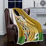 Decke werfen eine Überarbeitung der Gustav Klimt Kussdecken Fleecedecken Bettwäsche, 125x150CM
