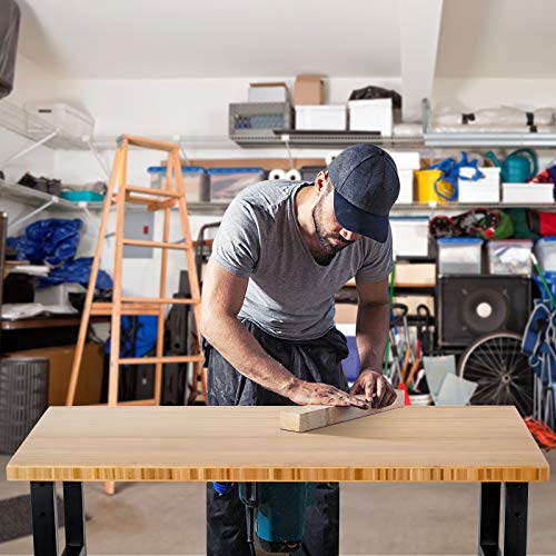 Goplus Garage Workbench with Casters, 48
