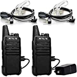 Retevis RT22 Two Way Radio 16 CH VOX Walkie Talkies(2 Pack) and Covert