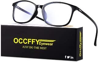 Occffy ブルーライトカット メガネ pc メガネ ブルーライト メガネ ウェリントンタイプ ファッションOc11679 (ブラック)