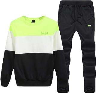 Men Sweatshirt Top Pants Sets Long Sleeve Hoodie Sports Suit Tracksuit