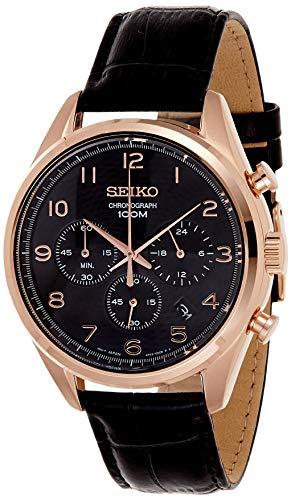 Seiko Reloj Cronógrafo para Hombre de Cuarzo con Correa en Cuero SSB296P1