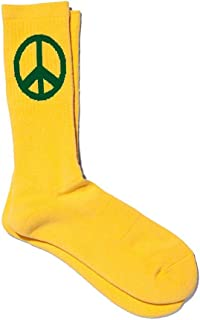 DRUTHERS Organic Cotton Peace Sign Crew Socks/Eco Friendly/Made in Japan