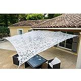 WerkaPro 10793 - Toile d'Ombrage Ajourée - 120 g/m2 - En Polyester - Rectangulaire - 3 x 4 m - Blanc - Pour Balcon, terrasse et jardin