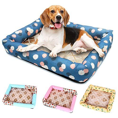 wpOP59NE Plush Cushion Pet Rest Sleeping Bed Mat Dog Cat Warm Kennel Pad Nest Best Gift Summer Pet Dog Cat Cooling Sleeping Mat Strawberry Breathable Mattress Bad Pad 4# S