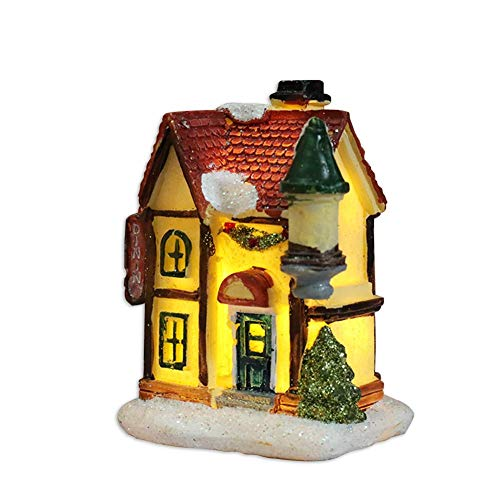 Doll House, Dollhouse with Furniture Figurines LED Miniature Landscape Lights and Accessories for Christmas Toys for 3 Year Old +, Creative Ideas for Kids