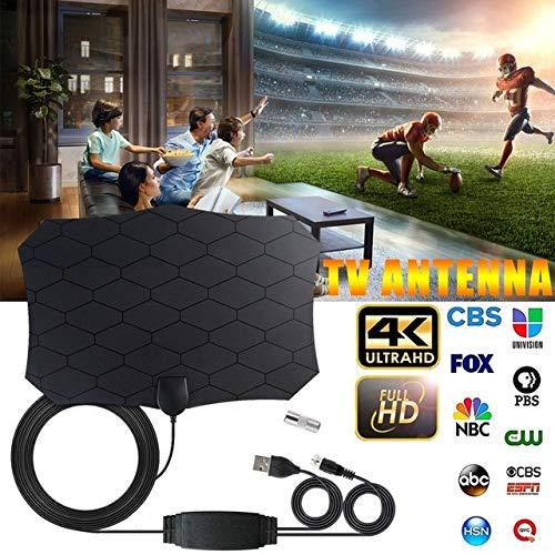 bester Test von antenne tv fox Redcolourful 120 Mile Digital TV Antenne 25dB HDTV Antenne mit Verstärker Signal Gain Radio…