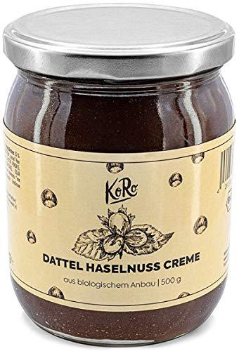KoRo – Bio Dattel Haselnuss Creme 500 g – Vollmundige Creme frei von künstlichen Zusätzen aus nur drei Zutaten
