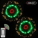 Fuoco d'artificio Luci Fatate 180 LED Scintillio Starburst Filo di rame Luce Interno All'a...