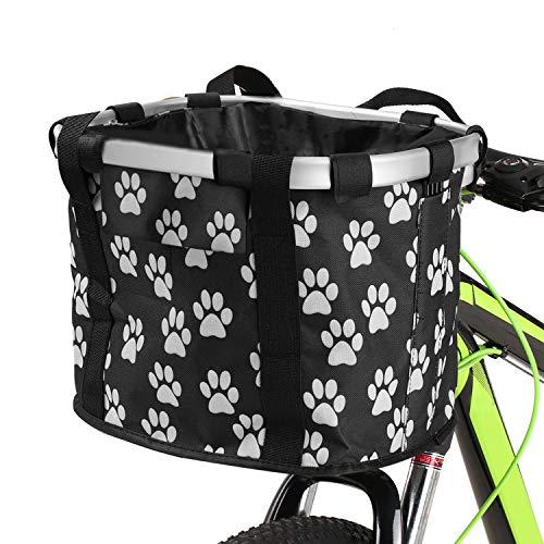 Lixada Cestino Anteriore Bici Staccabile Telaio in Lega di Alluminio, Borsa per Animali Domestici Durevole per Cani Gatto Borsetta per Il Ciclismo Picnic Shopping