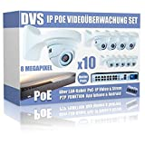 4K UHD IP Überwachungskamera Set H265 ONVIF PoE - 4000 GB